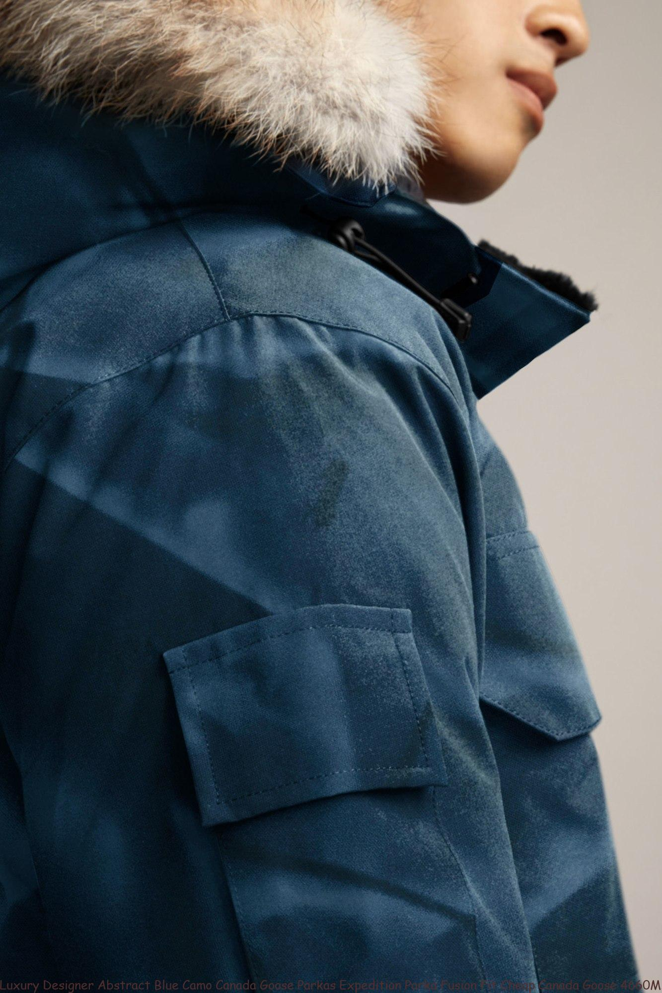 21124892c Luxury Designer Abstract Blue Camo Canada Goose Parkas Expedition Parka  Fusion Fit Cheap Canada Goose 4660MA