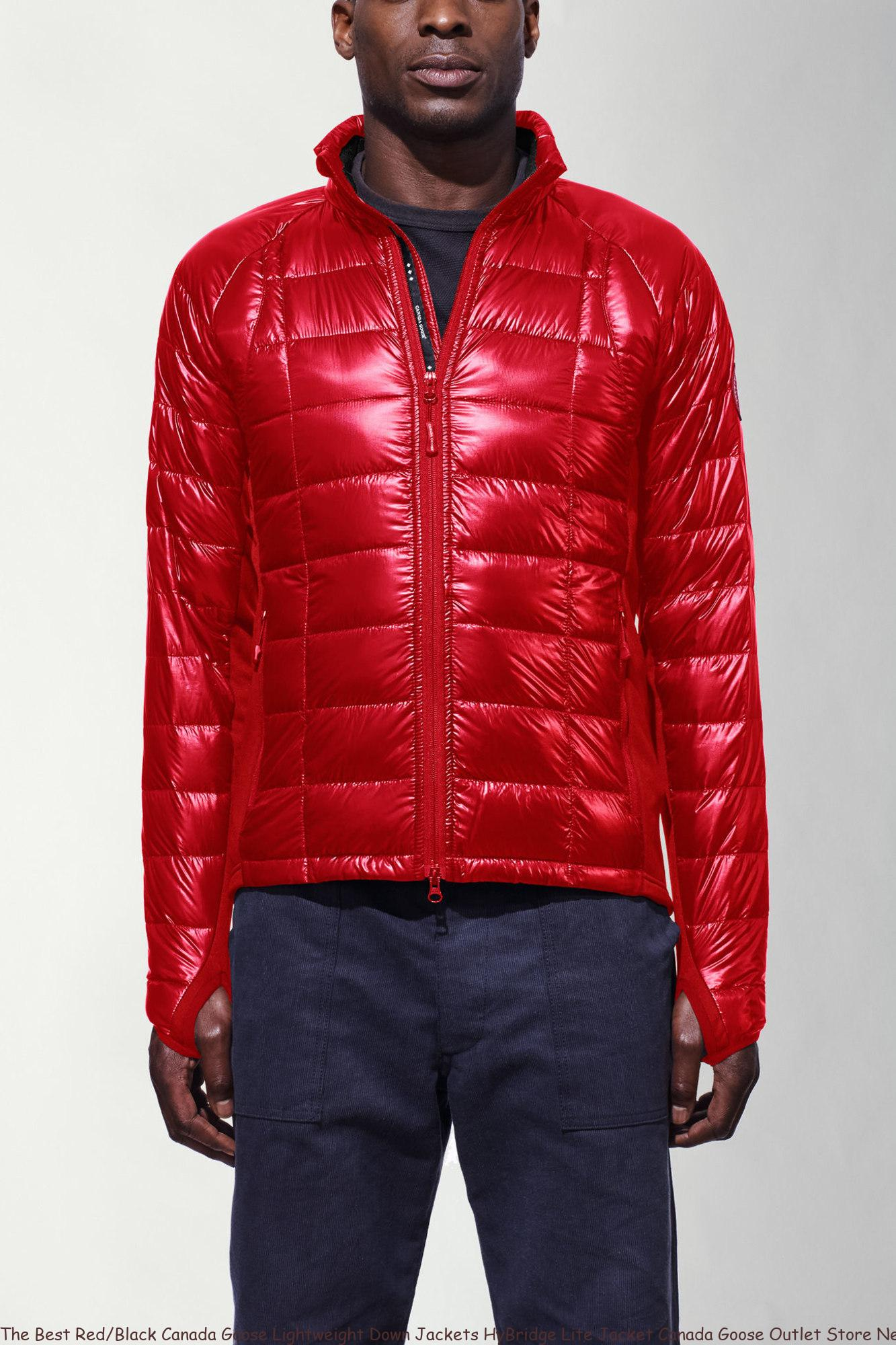 The Best Red Black Canada Goose Lightweight Down Jackets