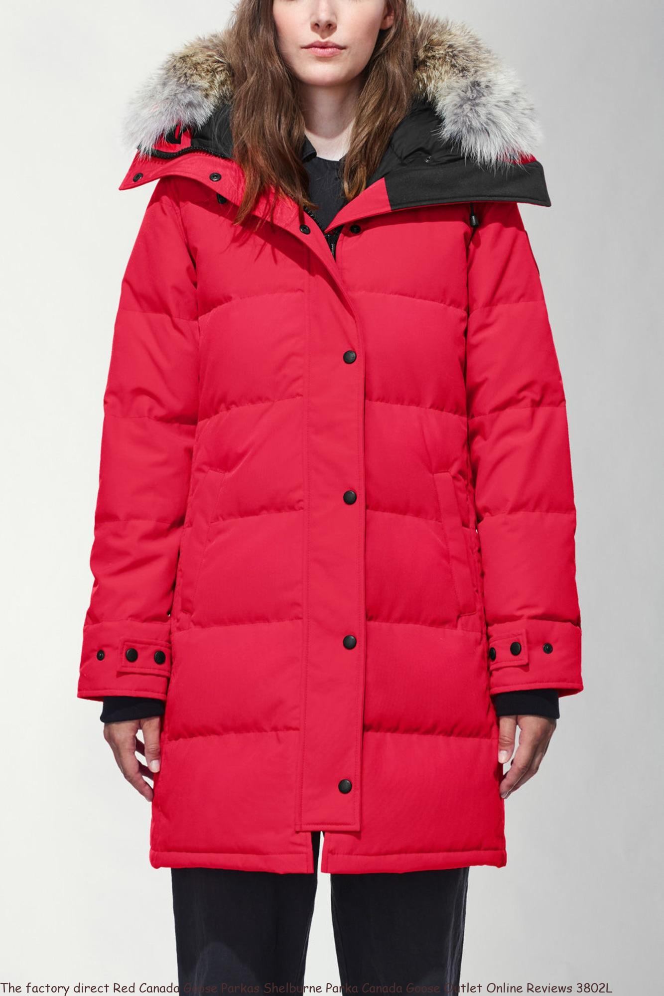 The factory direct Red Canada Goose Parkas Shelburne Parka Canada Goose Outlet Online Reviews 3802L